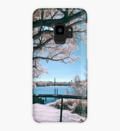 The Fig Tree in Pink And Green Case/Skin for Samsung Galaxy
