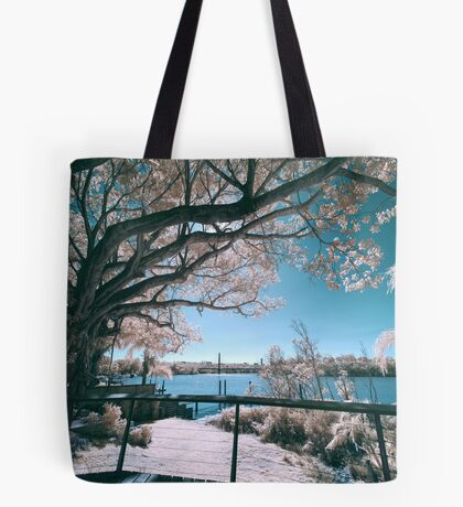 The Fig Tree in Pink And Green Tote Bag