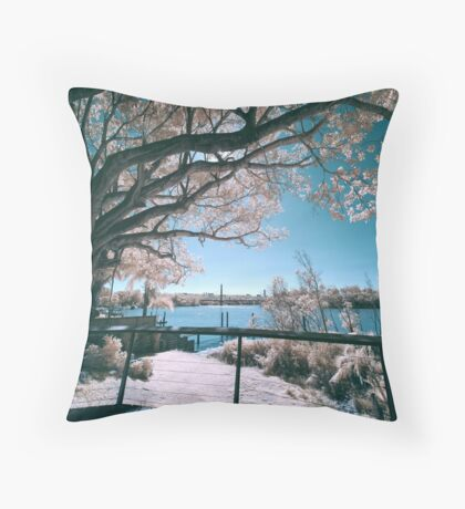 The Fig Tree in Pink And Green Throw Pillow