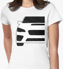 2015+ Subaru WRX STI Full Front with Corner Edge Cut Sticker / Decal Womens Fitted T-Shirt