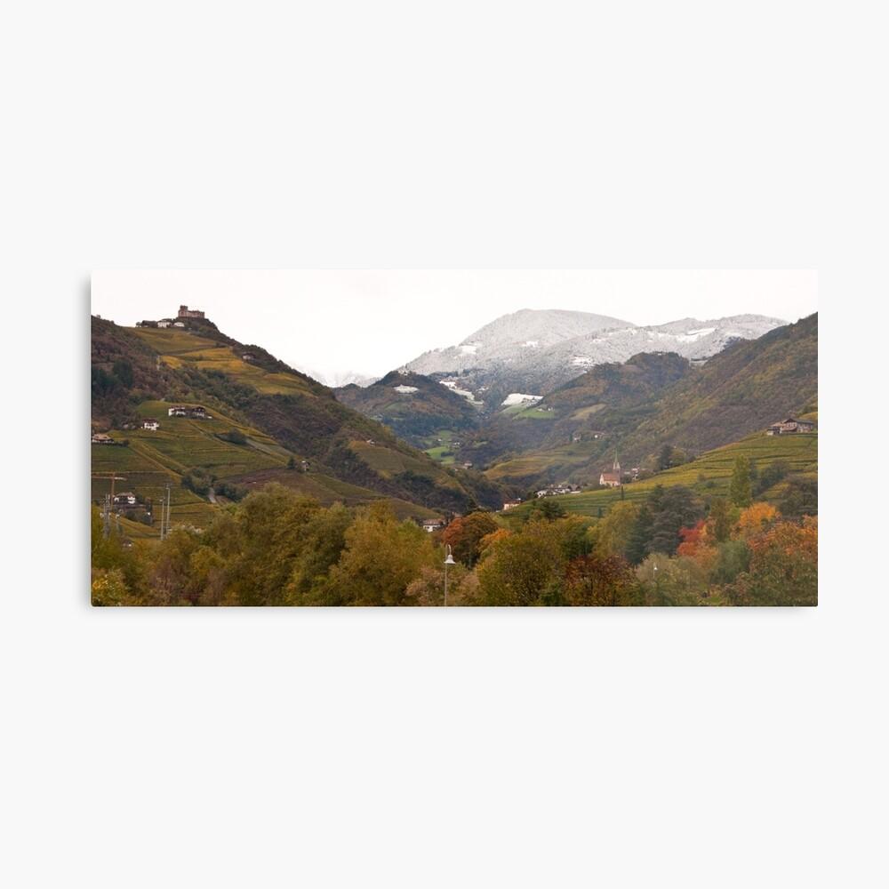 Snow line on the hills, Bolzano/Bozen, Italy (Panorama) Metal Print
