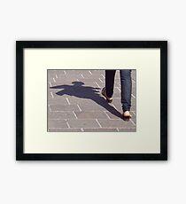 Winged shadow, Bolzano/Bozen, Italy Framed Print