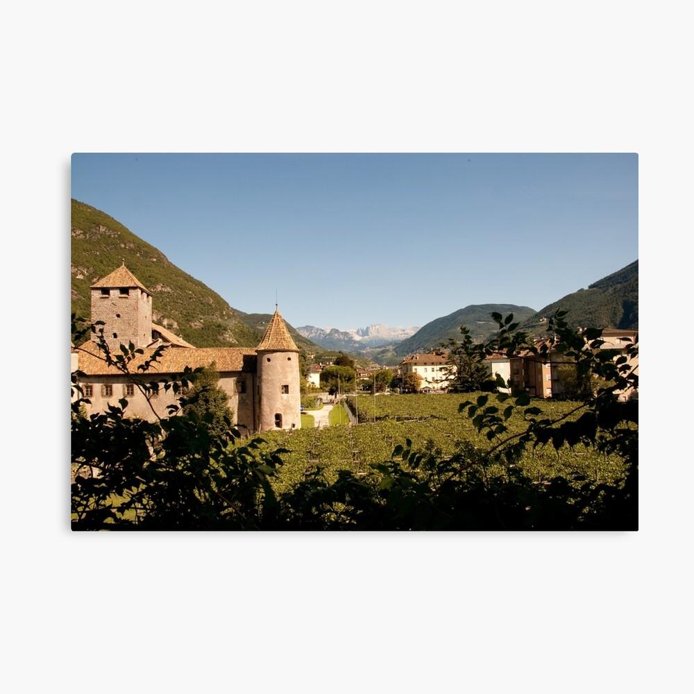 Castle Mareccio Vineyard, Bolzano/Bozen, Italy Canvas Print
