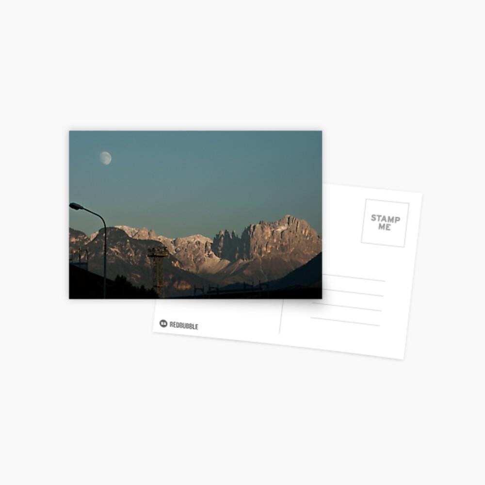 Moon over the Dolomites, Bolzano/Bozen, Italy Postcard