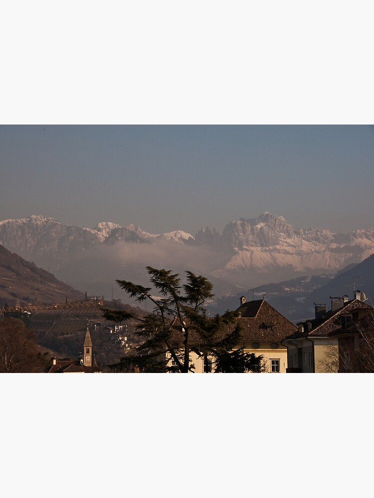 Dolomites and low-hanging clouds, view from Bolzano/Bozen, Italy by leemcintyre