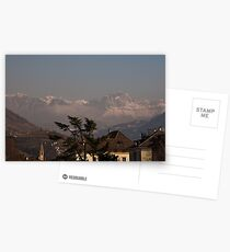 Dolomites and low-hanging clouds, view from Bolzano/Bozen, Italy Postcards