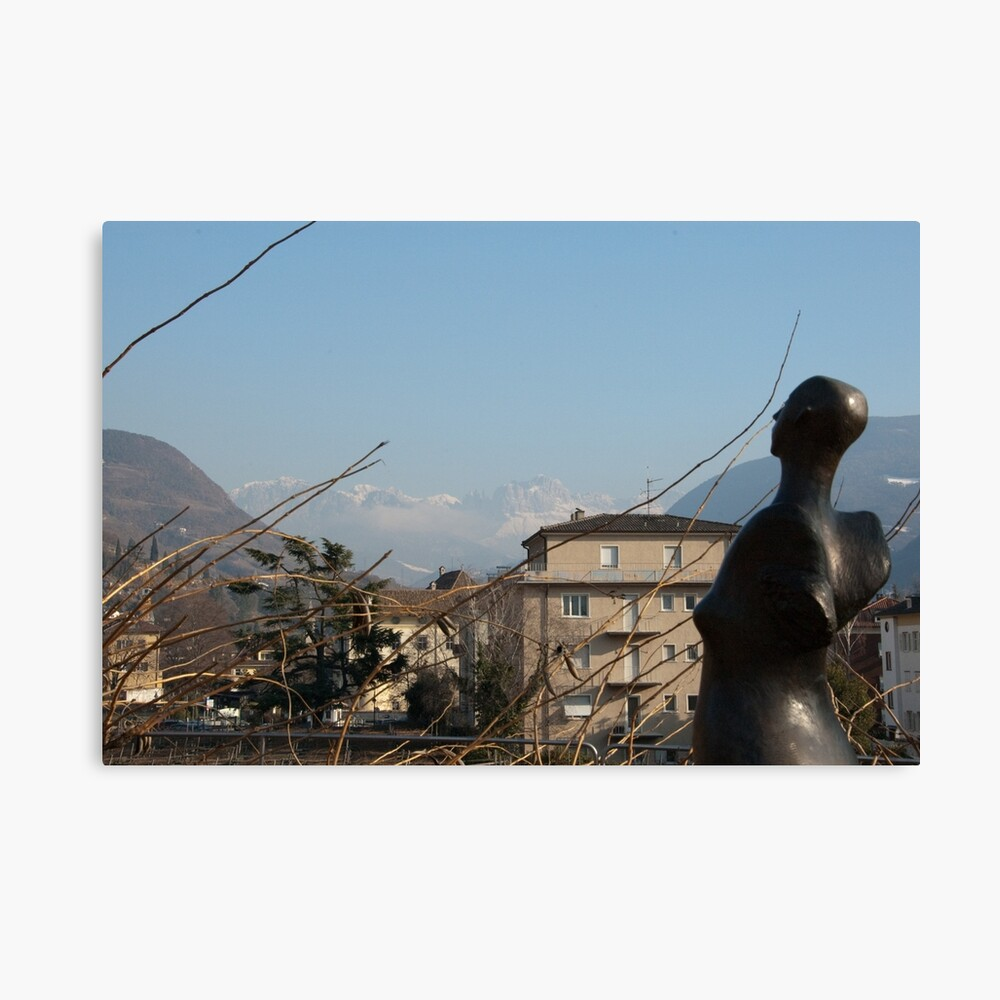 Dolomites and the Angel, View from Bolzano Canvas Print
