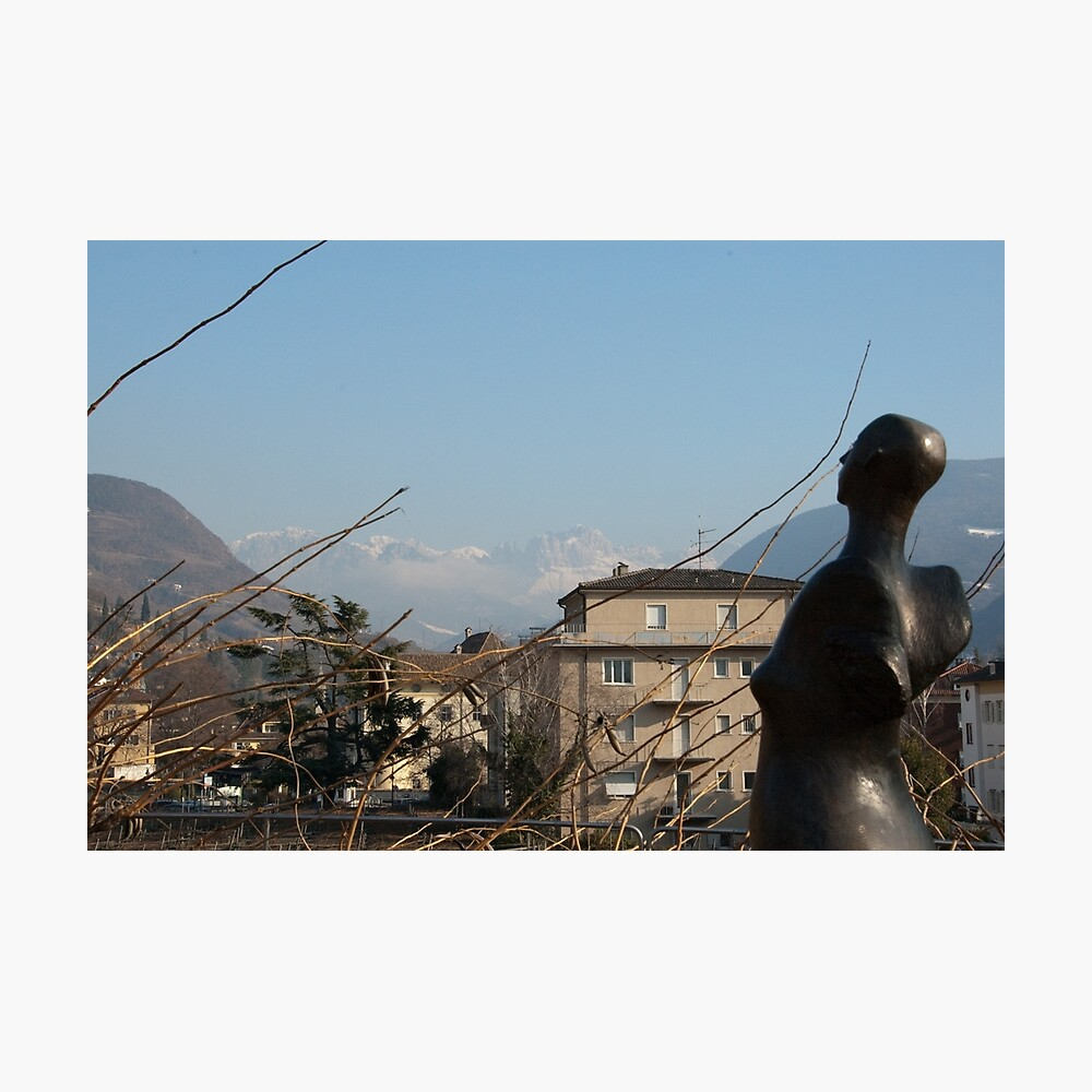 Dolomites and the Angel, View from Bolzano Photographic Print