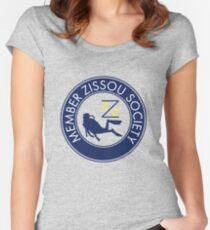 Member Zissou Society Women's Fitted Scoop T-Shirt