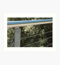 Face on a Fence Post, Bolzano/Bozen, Italy Art Print