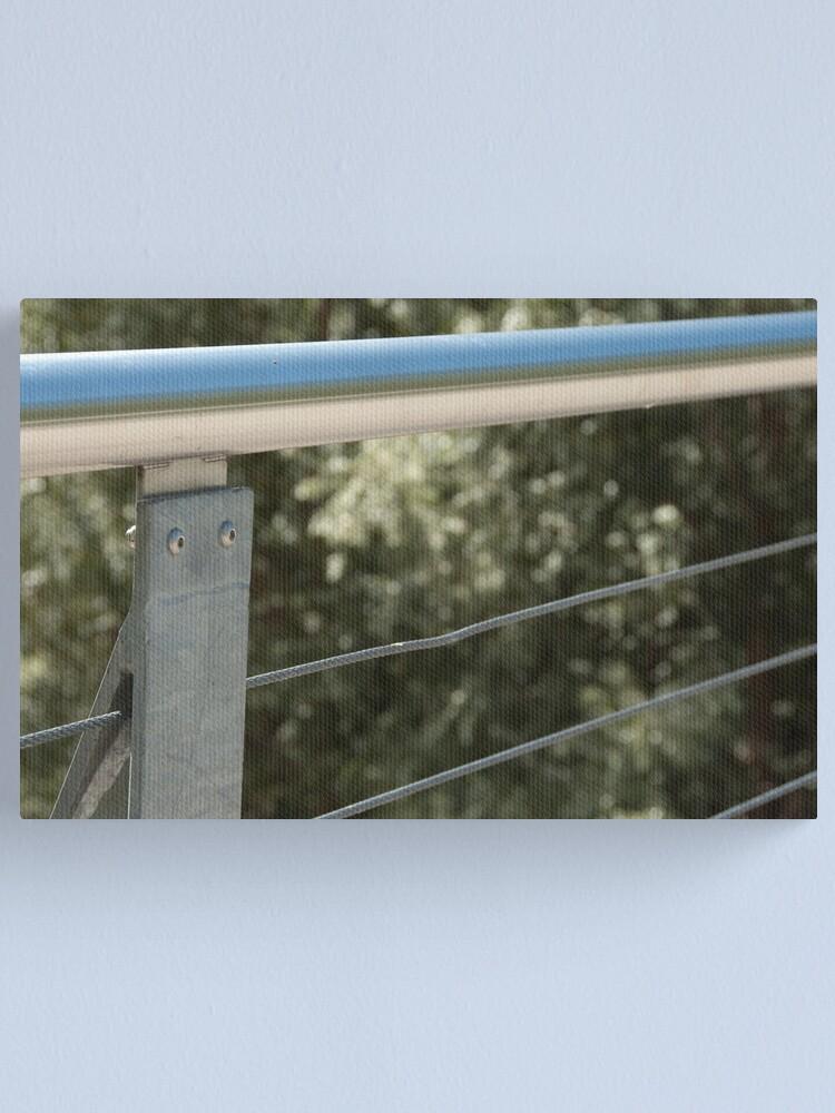 Alternate view of Face on a Fence Post, Bolzano/Bozen, Italy Canvas Print