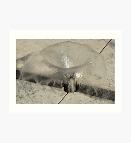 Sprinkler Fountain, EURAC plaza, Bolzano/Bozen, Italy Art Print