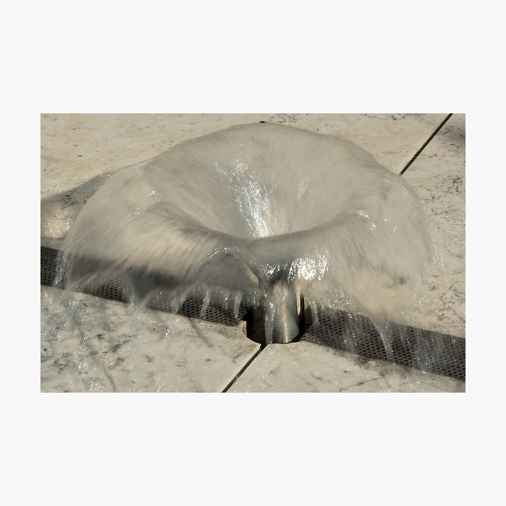 Sprinkler Fountain, EURAC plaza, Bolzano/Bozen, Italy Photographic Print