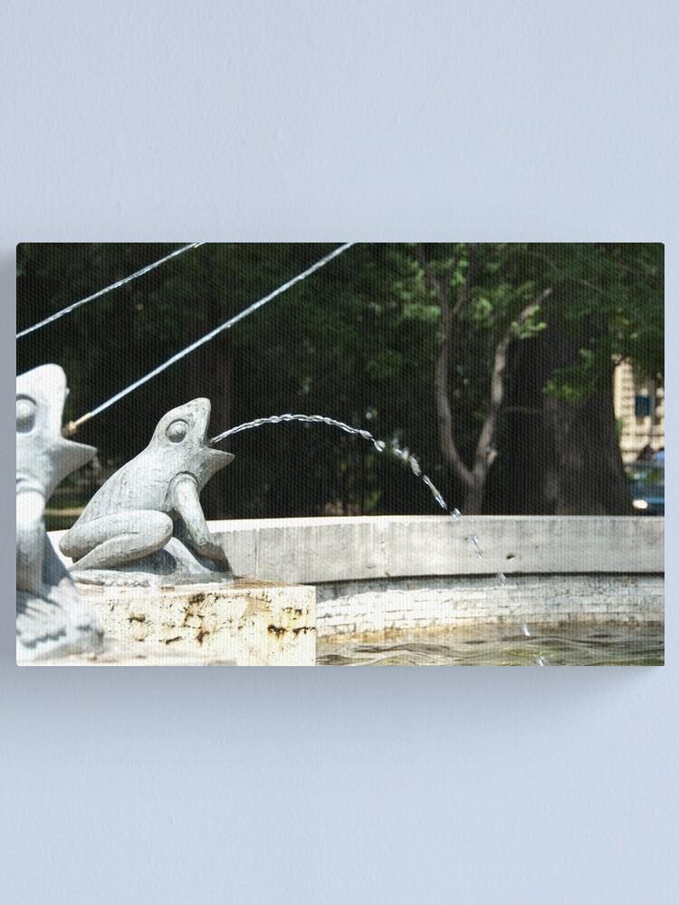 Alternate view of Frog Fountain, Bolzano/Bozen, Italy Canvas Print