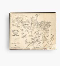 Vintage Map of Rio de Janeiro Brazil (1896) Canvas Print