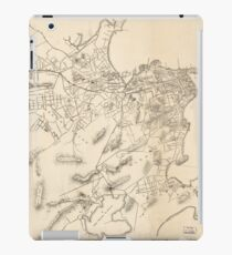 Vintage Map of Rio de Janeiro Brazil (1896) iPad Case/Skin