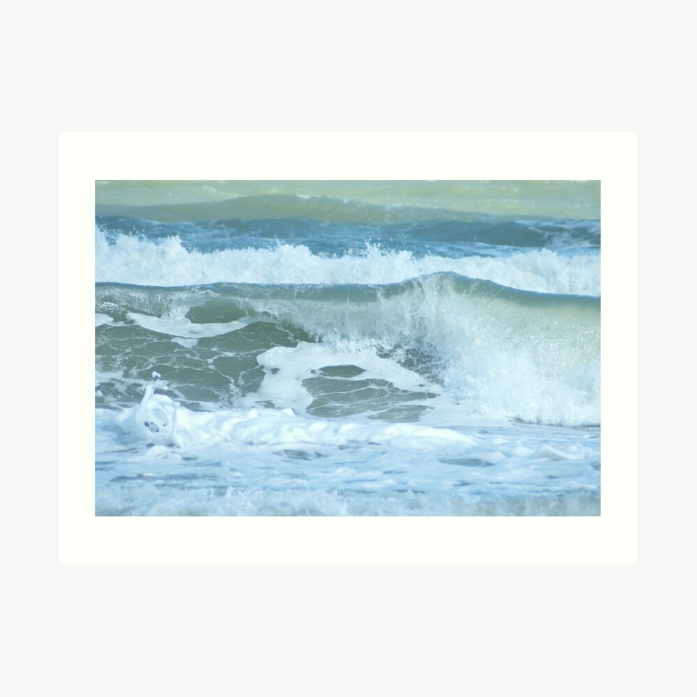 Sudden Surge, Melbourne Beach, Florida Art Print