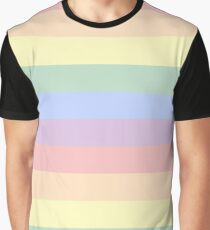 Pastel Gay Pride Flag Graphic T-Shirt