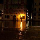 Near the Rialto Bridge, Venice, Italy by L Lee McIntyre