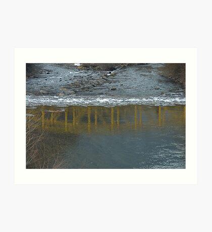 Bridge on the Talvera River, Bolzano/Bozen, Italy Art Print