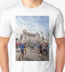 Marathon in Piazza Venezia Unisex T-Shirt