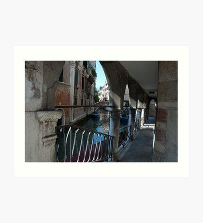Venice Archways, Italy Art Print