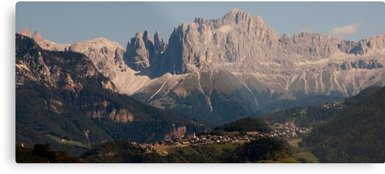 Dolomites, as viewed from Bolzano/Bozen, Italy by L Lee McIntyre