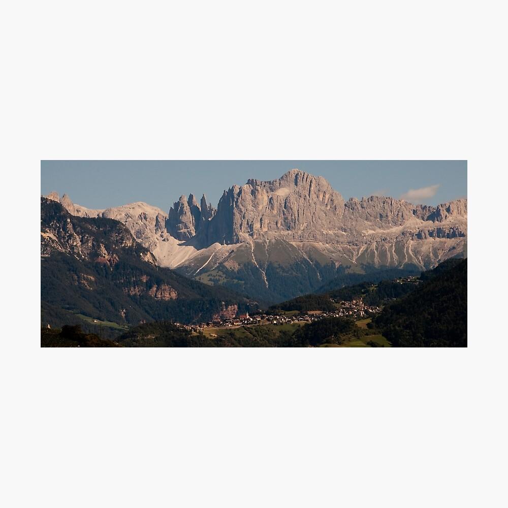 Dolomites, as viewed from Bolzano/Bozen, Italy Photographic Print