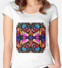 Bird Ornament Fitted Scoop T-Shirt