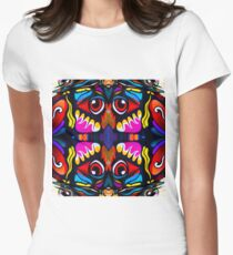 Bird Ornament Fitted T-Shirt