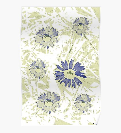 abstract daisy Poster
