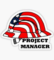 Project Manager Hard Hat Sticker