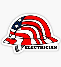 Electrician American Hard Hat Construction Sticker