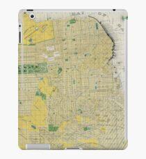 Vintage Map of San Francisco CA (1898) iPad Case/Skin