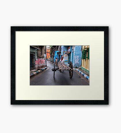 Colorful Lanes Of  North Kolkata Framed Print