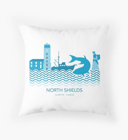 North Shields Fish Quay Throw Pillow