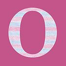 Letter O Blue And Pink Dots And Dashes Monogram Initial by theartofvikki