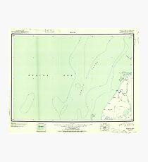 USGS TOPO Map Alaska AK Black 360673 1951 250000 Photographic Print