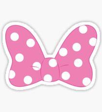 Polka Dot Bow - Pink Sticker