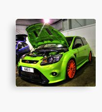 Green Focus in HDR Canvas Print