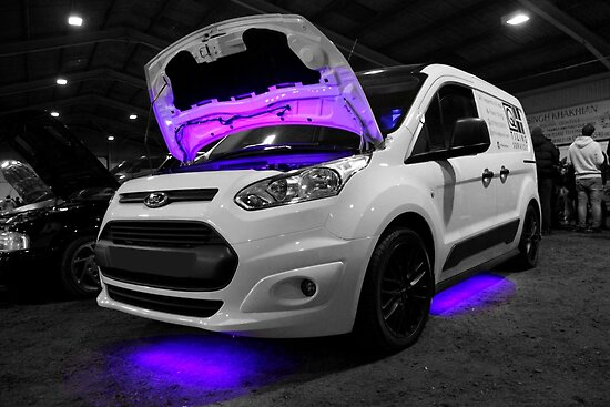 Ford Van with Purple Lights by Vicki Spindler (VHS Photography)