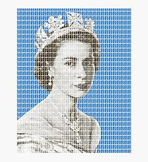 God Save The Queen - Blue Photographic Print