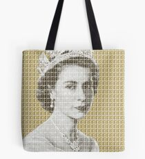 God Save The Queen - Gold Tote Bag