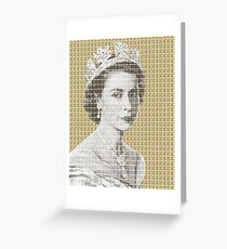 God Save The Queen - Gold Greeting Card