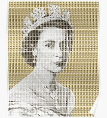 God Save The Queen - Gold Poster