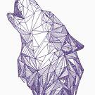 Triangulated Wolf Head by McBethAllen