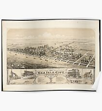 Vintage Pictorial Map of Sea Isle City NJ (1885) Poster