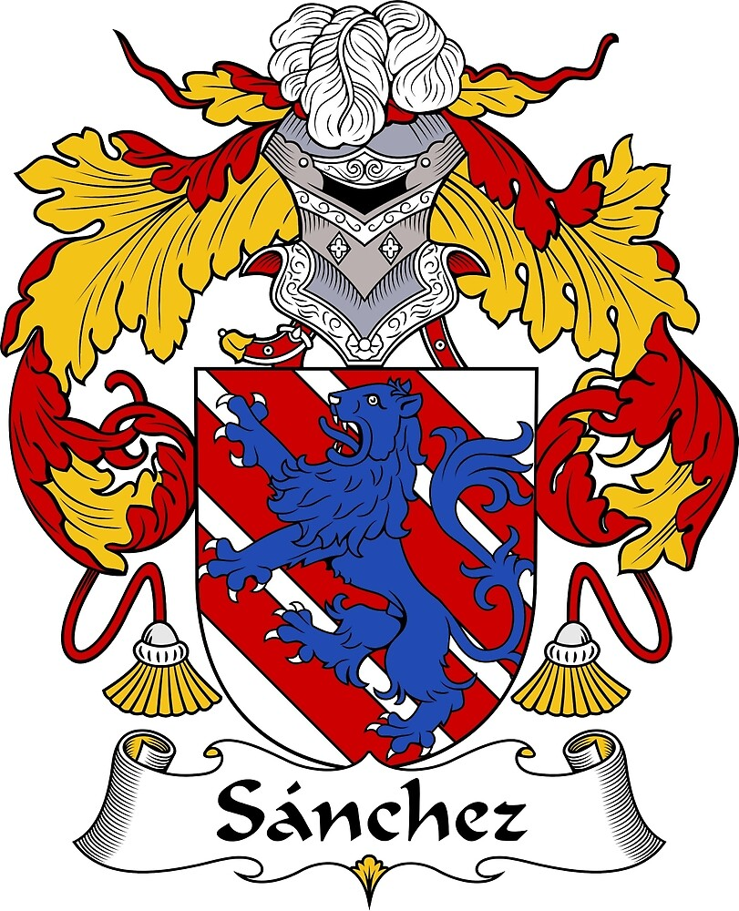 Sanchez Coat of Arms/Family Crest by William Martin