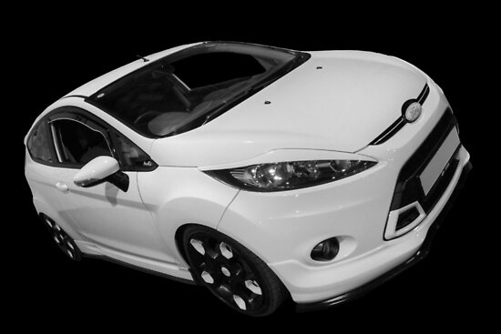 Black and White Ford Fiesta by Vicki Spindler (VHS Photography)