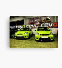 Two Green Fiestas HDR Canvas Print